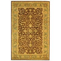 "Safavieh Handmade Antiquities Mahal Brown/ Blue Wool Rug - 9'6"" x 13'6"""