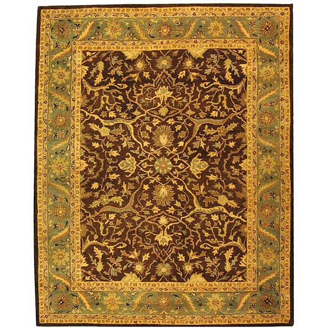 Safavieh Handmade Antiquities Mahal Brown/ Blue Wool Rug (6' x 9')
