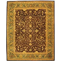 Safavieh Handmade Antiquities Mahal Brown/ Blue Wool Rug - 7'6 x 9'6