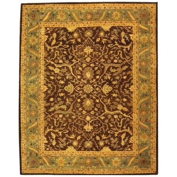 "Safavieh Handmade Antiquities Mahal Brown/ Blue Wool Rug - 7'6"" x 9'6"""