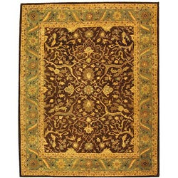 Safavieh Handmade Antiquities Mahal Brown/ Blue Wool Rug (8'3 x 11')