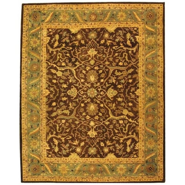 "Safavieh Handmade Antiquities Mahal Brown/ Blue Wool Rug - 8'3"" x 11'"