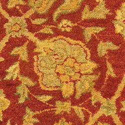 Safavieh Handmade Antiquities Mashad Rust/ Ivory Wool Runner (2'3 x 12') - Thumbnail 1