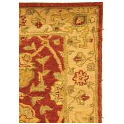 Safavieh Handmade Antiquities Mashad Rust/ Ivory Wool Runner (2'3 x 8') - Thumbnail 2