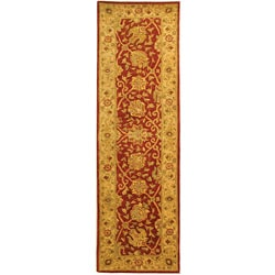 Safavieh Handmade Antiquities Mashad Rust/ Ivory Wool Runner (2'3 x 8')