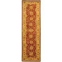 Safavieh Handmade Antiquities Mashad Rust/ Ivory Wool Runner Rug - 2'3 x 8'