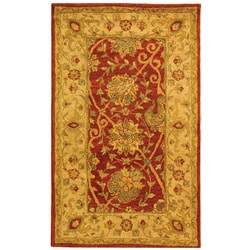 Safavieh Handmade Antiquities Mashad Rust/ Ivory Wool Rug (3' x 5')