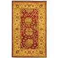 Safavieh Handmade Antiquities Mashad Rust/ Ivory Wool Rug (3' x 5')