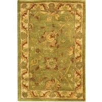 Safavieh Handmade Antiquities Mashad Sage/ Ivory Wool Rug - 2' x3'