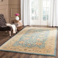 Safavieh Handmade Antiquities Mashad Blue/ Ivory Wool Rug - multi - 7'6 x 9'6