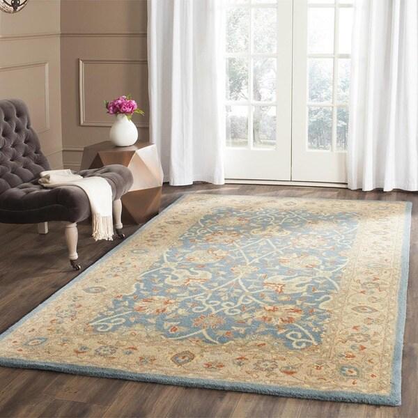 Safavieh Handmade Antiquities Mashad Blue/ Ivory Wool Rug (8'3 x 11')