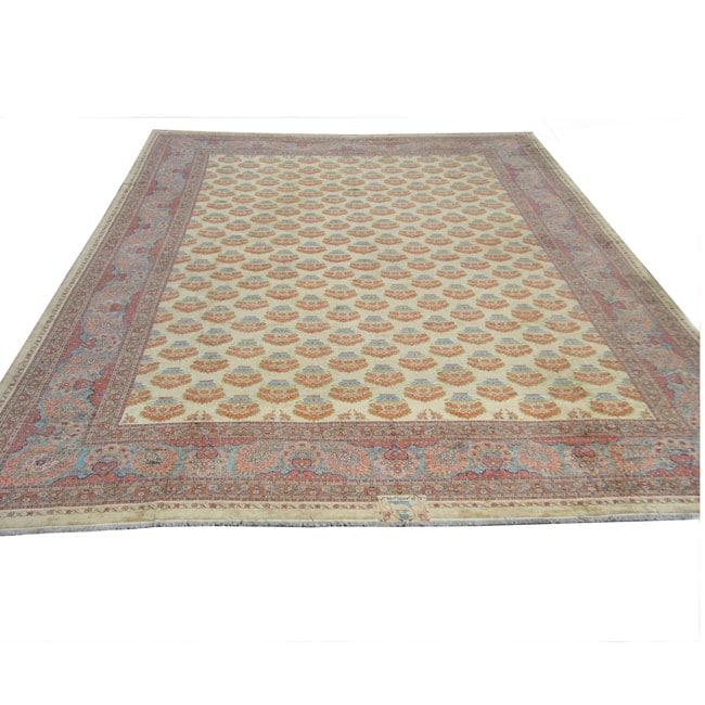 Handmade Herat Oriental Rare Antique Meshkabad Persian Wool Rug - 26'9 x 37'