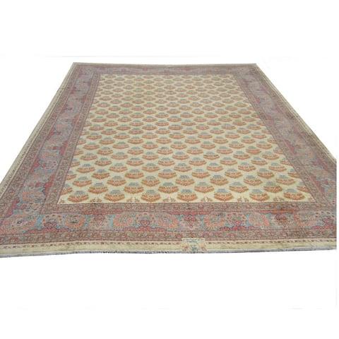 Handmade Herat Oriental Rare Antique Meshkabad Persian Wool Rug (26'9 x 37') - 26'9 x 37'