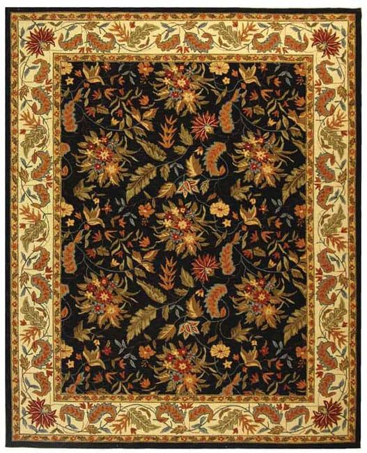 Safavieh Handmade Paradise Black Wool Rug - 7'9 x 9'9