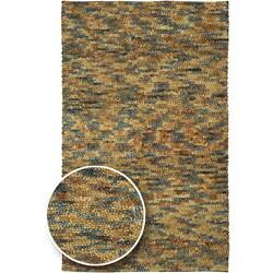Hand-woven Earthtone Collection Wool Area Rug - 4' x 10' - Thumbnail 0