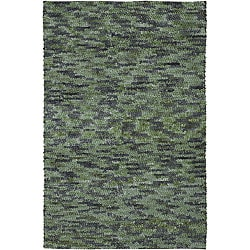 Hand-woven Earthtone Collection Wool Rug (4' x 10')