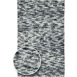 Hand-woven Earthtone Collection Wool Area Rug - 4' x 10'