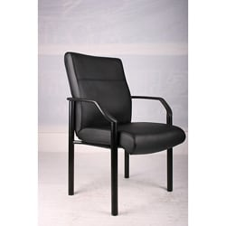 Boss LeatherPlus Bonded Leather Guest Chair