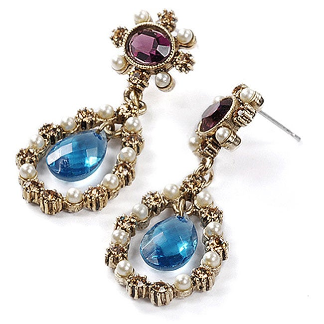 Sweet Romance Antoinette Jewel Vintage Earrings