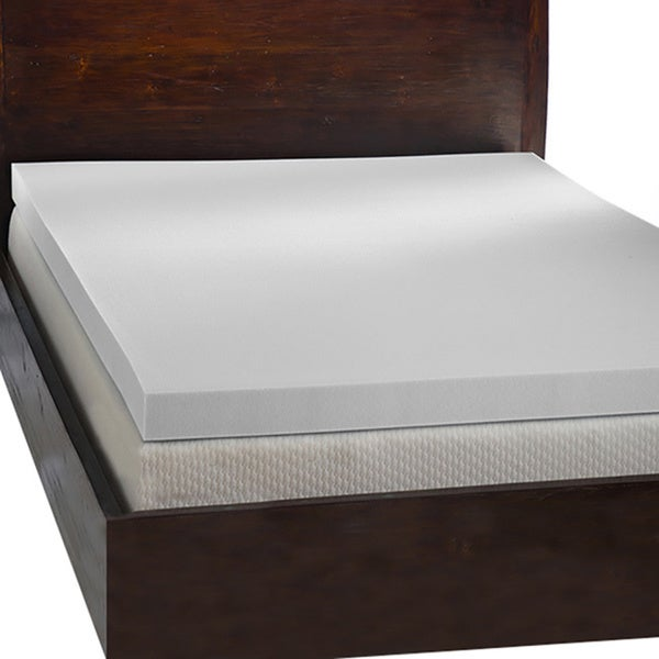 Comfort dreams 39 mem cool 39 4 inch memory foam mattress topper free shipping today overstock 4 memory foam mattress topper