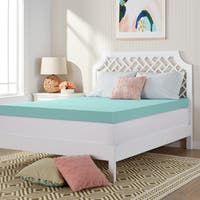 Comfort Dreams 'Mem-Cool' 4-inch Memory Foam Mattress Topper - White