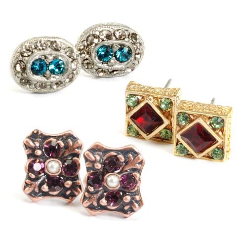 Sweet Romance Victorian Antique Stud Earrings Set