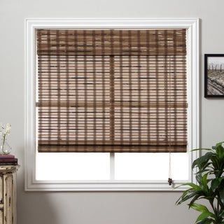 Arlo Blinds Guinea Deep Bamboo 54-inch Long Roman Shade