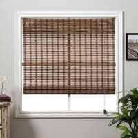 Arlo Blinds Guinea Deep Bamboo 54-inch High Roman Shade