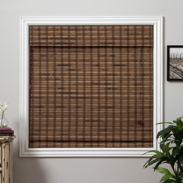 Arlo blinds guinea deep bamboo roman shade 74 inch length for 18 inch window blinds