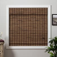 Arlo Blinds Guinea Deep Bamboo Roman Shade with 74 Inch Height
