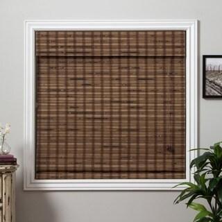 arlo blinds guinea deep bamboo roman shade with 74 inch height