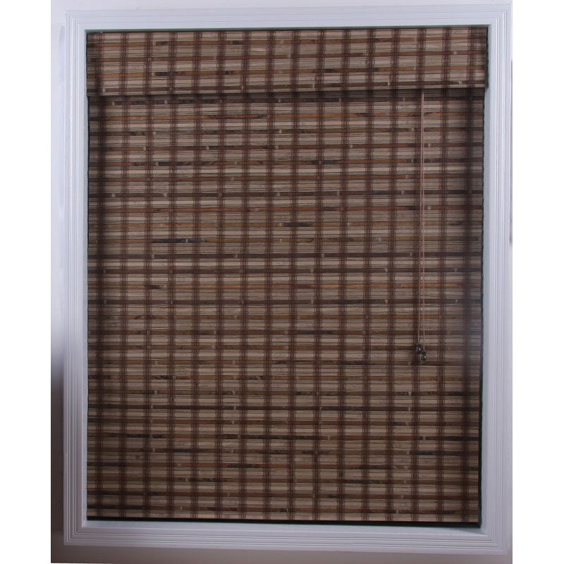 Arlo Blinds Guinea Deep Bamboo Roman Shade (33 in. x 74 in.)