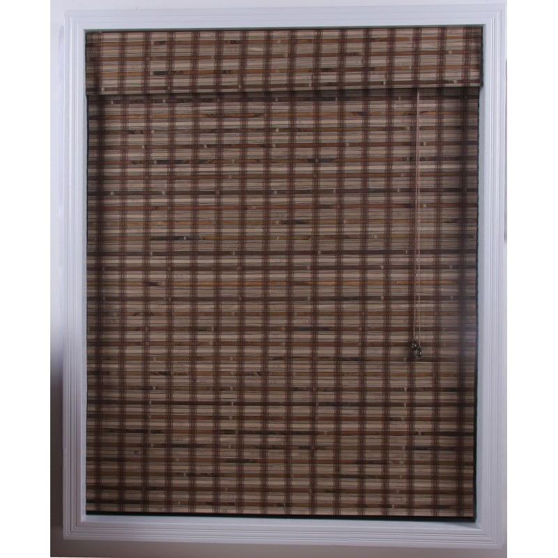 Arlo Blinds Guinea Deep Bamboo Roman Shade (52 in. x 74 in.)