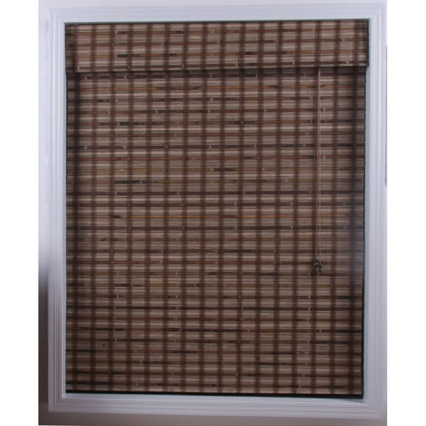 Arlo Blinds Guinea Deep Bamboo Roman Shade (46 in. x 98 in.)