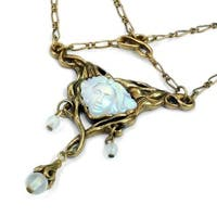Sweet Romance Vintage French Art Nouveau Aurora Boho Necklace