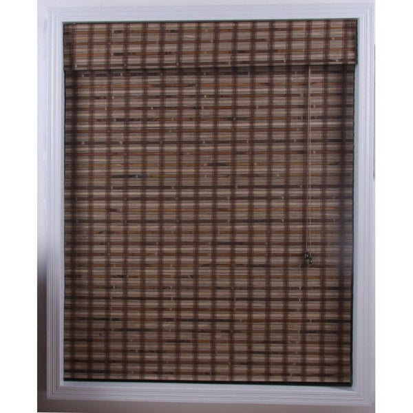 Arlo Blinds Guinea Deep Bamboo Roman Shade (61 in. x 98 in.)