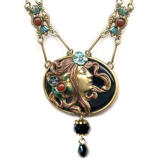 Sweet Romance Art Nouveau Woman Necklace
