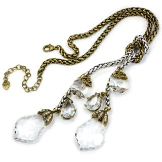 Sweet Romance Crystal Elements Lariat Necklace