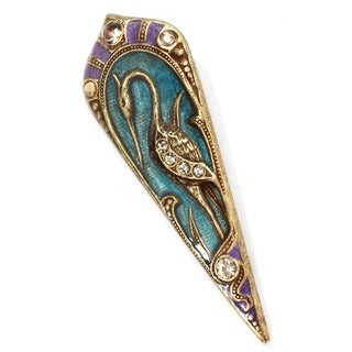Sweet Romance Art Nouveau Enamel Bird Pin Brooch