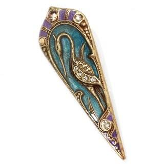 Sweet Romance Art Nouveau Enamel Bird Pin Brooch