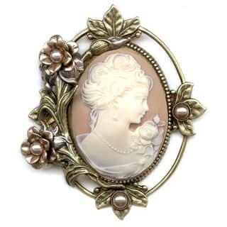 Sweet Romance Victorian Vintage Wedding Flower Cameo Pin Brooch|https://ak1.ostkcdn.com/images/products/3171780/P11292452.jpg?impolicy=medium