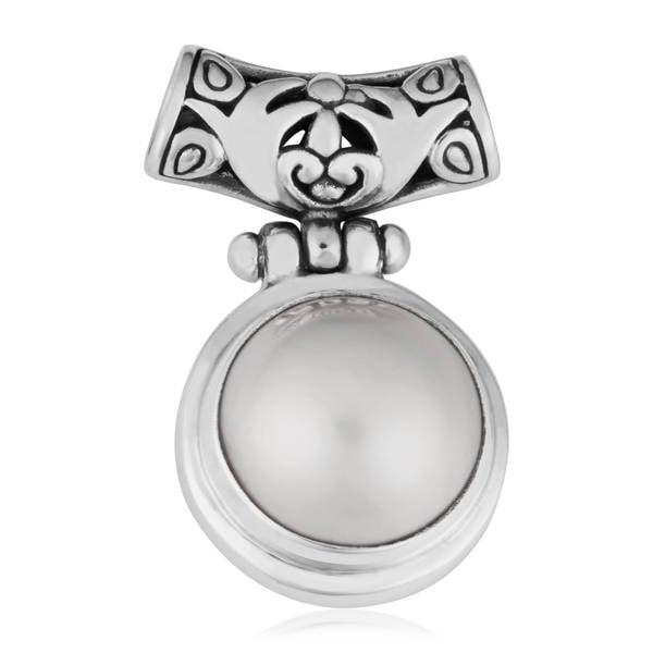 Handmade Sterling Silver Blister Pearl Pendant (Indonesia)