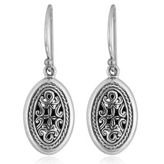 Handmade Sterling Silver 'Cawi Carving' Dangle Earrings (Indonesia)|https://ak1.ostkcdn.com/images/products/3174182/P11294517.jpg?impolicy=medium