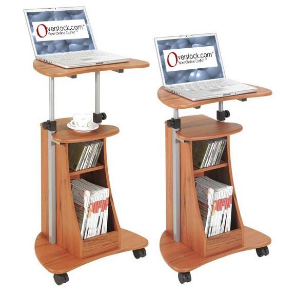 Ergonomic Adjustable Rolling Laptop Desk (Deluxe Rolling,...
