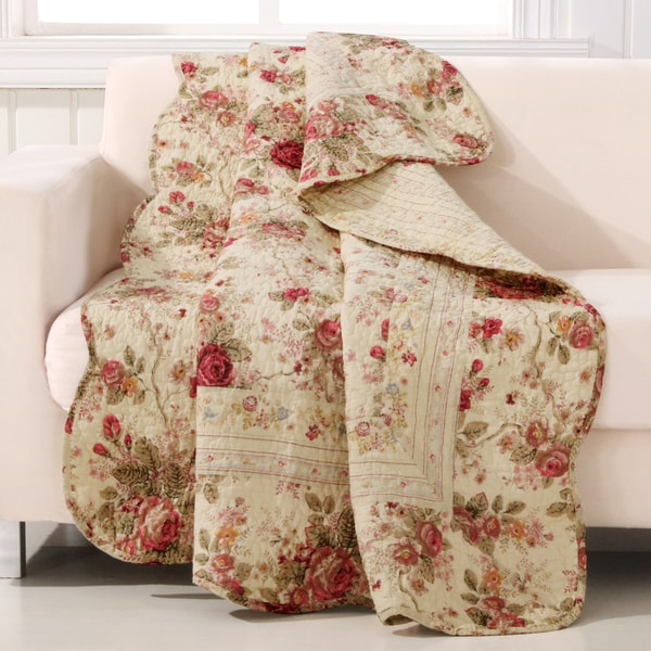 Greenland Home Fashions Antique Rose Throw. Opens flyout.