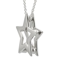 Journee Collection  Sterling Silver Cutout Star Necklace - Thumbnail 1
