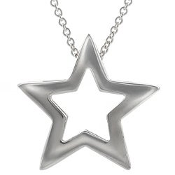 Journee Collection Sterling Silver Cutout Star Necklace