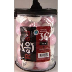 Recycled Pinnacle White/ Pink Crystal Golf Balls (Pack of 72)