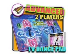 Plug and Play TV Dance Pad with Duel Pads