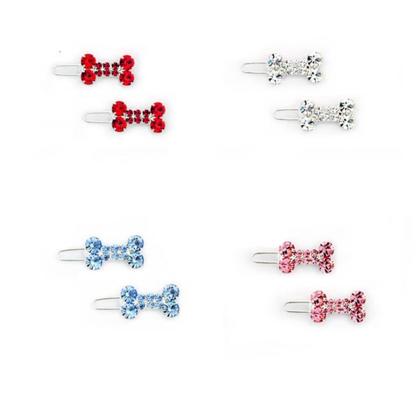 Tiny Bone Pet Barrettes (Set of 2)